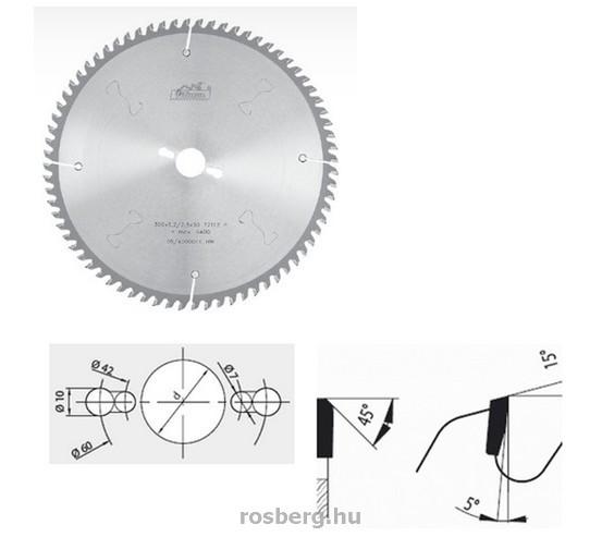 Pilana alu vágó körfűrészlap 250 x 30 3,2/2,5 Z60 ( 87-13 TFZ P)