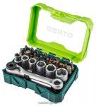 Bithegy készlet VERTO 66h624 24 részes, 25 mm - 2 x ph, 2 x pz, 2 x sl, 4 x hex, 5 x tx