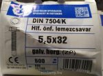 Hatlapf.-onfuro-lemezcsavar-5.5-32-500-db-ITH