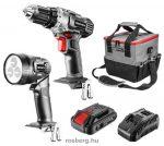 GRAPHITE 58G016 akkus gépkészlet 18V: akkus fúró + lámpa + táska +akku + töltő , 2.0Ah