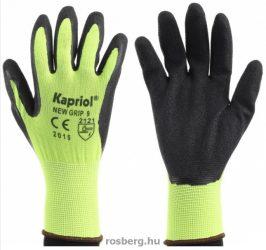 KAPRIOL védőkesztyű  128036,128037 new grip, sárga-fekete 9-10