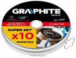 GRAPHITE vágókorong készlet   55h570 115x 1.0 x 22.2 mm, 41 a60-t-bf, inox, 10 db