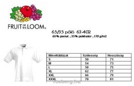 Fruit-of-the-Loom-63-402-65-35-galleros-polo-FEHeR-S-L-170g-m2-
