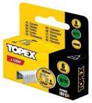 TOPEX tűzőkapocs  41E406 6 mm/1000 db
