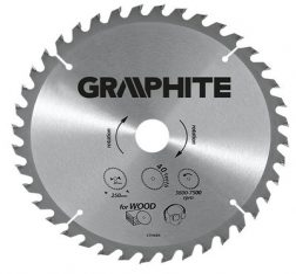 GRAPHITE körfűrészlap 300x30 Z 40 keményf. 55H606