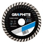 GRAPHITE gyémántvágó 125 mm TURBO hűtőb. 57H634