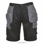 mv-Portwest-KS18-Granite-rovidnadrag-fekete-szurke-S-L