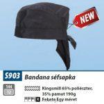 MV Portwest S903  BANDANA séfsapka fekete