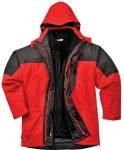 MV piros/fekete Portwest 3/1 AVIEMORE kabát S570 S, M, XL, XXL, XXXL méretek
