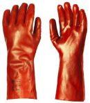 MV mártott PVC kesztyű 3619 piros, 36cm  hosszú 9es