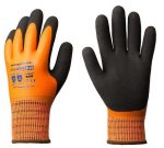 MV EUROWINTER téli  narancs kesztyű (1LAWO08-1LAWO11), latex tenyér +csb réteg /8-11 méret