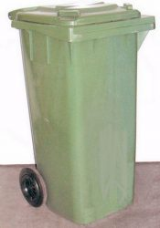 Kuka 240l műanyag zöld kerekes (magyar) (nem futározzuk)