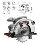 GRAPHITE körfűrészgép 1200W 58G486