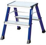 KRAUSE Monto Rolly gurítható lépcsőfokos fellépő 2x2 fokos kék            130082