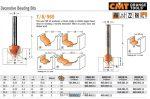 Felsőmaró CMT 765.402.11 merülő marók, dekorációs marók
