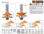 Felsőmaró CMT 991.501.11 kontra profil maró
