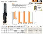 Felsőmaró CMT 790.283.12 /cserelapkás nútmaró