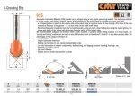 Felsőmaró CMT 915.002.11 90 °-os V-nútmaró