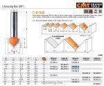 Felsőmaró CMT 915.095.11 90 °-os V-nútmaró