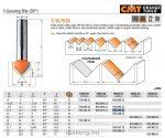 Felsőmaró CMT 915.127.11 90 °-os V-nútmaró