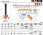Felsőmaró CMT 915.690.11 90 °-os V-nútmaró