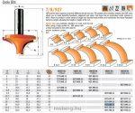 Felsőmaró CMT 927.690.11 gömbölyítő marók