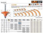 Felsőmaró CMT 939.187.11 gömbölyítő marók