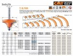 Felsőmaró CMT 939.222.11 gömbölyítő marók