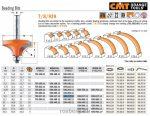 Felsőmaró CMT 939.317.11 gömbölyítő marók