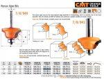 Felsőmaró CMT 940.350.11 dekorációs élmaró szerszám csapággyal