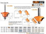 Felsőmaró CMT 941.285.11 dekorációs élmaró szerszám csapággyal