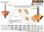 Felsőmaró CMT 941.380.11 dekorációs élmaró szerszám csapággyal
