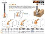 Felsőmaró CMT 950.001.11 T -nútmarók