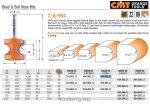 Felsőmaró CMT 954.002.11 Félkör marók, éldekorációs maró
