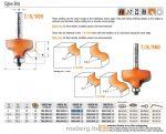 Felsőmaró CMT 959.040.11 dekorációs élmaró szerszám csapággyal