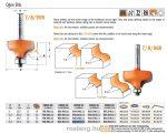 Felsőmaró CMT 960.064.11 dekorációs élmaró szerszám csapággyal
