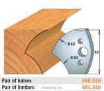HSS marólapka No. 550 B=50 CMT 690.550