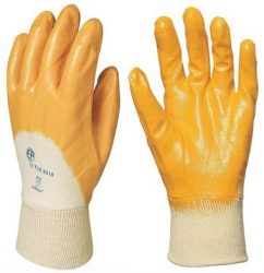 MV mártott sárga nitril kesztyű 9307, 9308, 9309, 9310/ 7-10 méretek