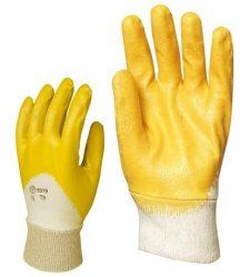 MV mártott sárga nitril kesztyű 9317, 9318, 9319, 9320, 9321/ 7-11 mérete